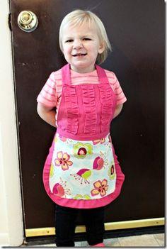 toddler apron tutorial