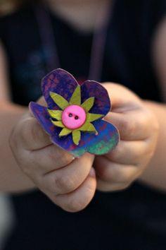 Toilet Paper Roll Necklace Tutorial - Kids Activities Blog