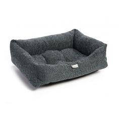 Chilli Dog Black & Silver Chenille Dog Bed