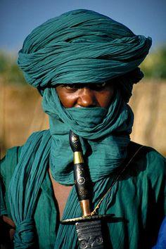 Africa | People. A TUAREG man in Timbuktu - Mali.