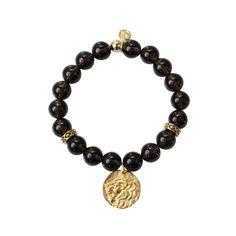 24k Gold Leo Coin w/ Smoky Quartz