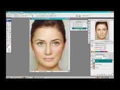 Макияж в Фотошопе для начинающих(коррекция лица,ресницы,брови,губы)/easy make up in Photoshop - YouTube