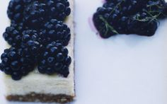 Cheesecake with Minted Blackberries: 2000s Recipes + Menus : gourmet.com Good proportion of cheesecake for bars