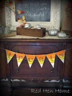 Red Hen Home:  beadboard garland / pennant banner / bunting