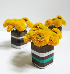 In an easy beginner cement project, I made modern cement bud vases using a silicone shot glass mold. These bud vases are so cute and would make a great gift! Shot Glass Mold, Glass Molds, Family Crafts, Diy Home Crafts, Recycled Crafts Kids, Ice Cream Day, Diy Simple, Clay Bowl, Edible Crafts