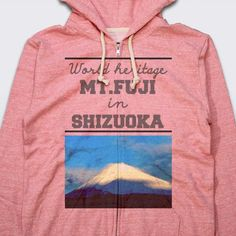 Fuji -World heritage- Japan - Zipup Parka - designed by cool-rock using Snaptee Cool Rocks, Personalized T Shirts, Hoodies, Sweatshirts, Fuji, Parka, Zip Ups, Graphic Sweatshirt, Japan