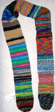 Colorful sassy sock yarn scarves by socksforewe on Etsy, $26.00