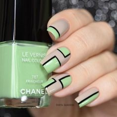 Cute nails by See more amazing nail art videos with the FREE Song: How Long - Lionel Richie Tan Nails, Cute Nails, Hair And Nails, Minimalist Nails, Nail Swag, Nail Polish Designs, Nail Art Designs, French Nails, Classic Nails