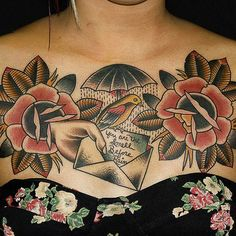 This has got to be my favorite chest piece of all time. Bold and feminine.