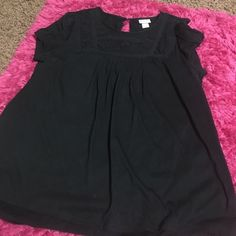 Black top with lace This black top from Mossimo has black lace at the top. Size XL. Mossimo Supply Co Tops