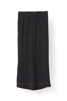 Grace Silk Pants, Black