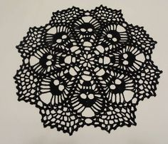 Skull Doily - Crochet Doily - Crochet Lace - Skull Lace Doily - Needle work- Crochet - Skull Lace by CreativeWorkByAnnie on Etsy