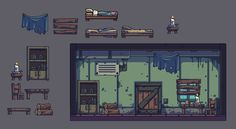 Building a room in Bullet Age. This is how it comes together. Not the prettiest place to find shelter:)