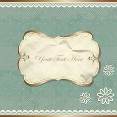 Vintage Border With Lace And Flowers - Decorative Vectors