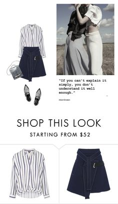 """""""Untitled #2107"""" by yenybarriot ❤ liked on Polyvore featuring Topshop, Carven, Sergio Rossi and The Row"""