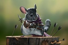 The Rodents - Assassin Chinchilla by priapos78 on DeviantArt
