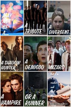 OMG I love this! Hunger Games, Divergent, Mortal Instruments, Percy Jackson, Harry Potter, Twilight, and Maze Runner. All of my favorite books in one place! Hunger Games, Divergent, Mortal Instruments Percy Jackson Harry Potter Twilight and Maze Runner.
