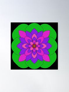 """Mandala Lotus Flower "" Poster by Pultzar   Redbubble"