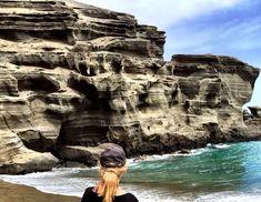 °Der Green Sand Beach ist einer von vier grünen Sandstrände der Welt :) !! °The Green Sand Beach is one of four green sandy beaches in the world :) !! Big Island Hawaii, Strand, Beach, Nature, Travel, Black Sand, Small Restaurants, Car Rental, Snorkeling