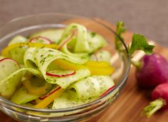 The weather is getting warmer. Time to try this refreshing cucumber salad. Available at Bristol Farms.