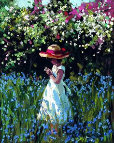 Bluebell Vision [Sherree Valentine Daines-A702] - $500.00 painting by oilpaintingsartmaker.com