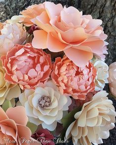 Paper Flowers - Wedding - Birthday - Special Events - Set of 48 - Mixed Sizes - Any Color -  Made To Order