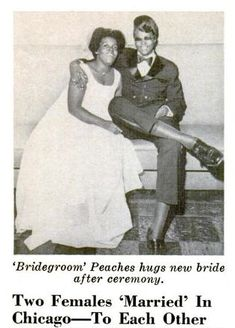 """queermuseum: """" Queer African American Women and the History of Marriage This photo and headline accompanied an article from the October 15, 1970 issue of Jet magazine. They reveal that long before the recent struggle for marriage equality began,..."""