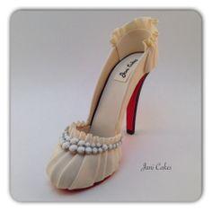 Wedding gum paste shoe