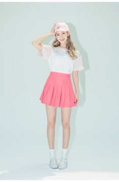 New Fashion Korean Pink Skirt 54 Ideas Style Ulzzang, Ulzzang Fashion, Kpop Fashion, Cute Fashion, Fashion Kids, New Fashion, Trendy Fashion, Fashion Outfits, Fashion Design