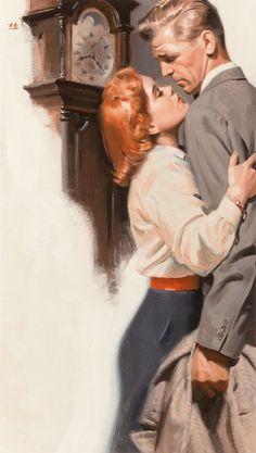 Tom Lovell, The Quiet Wife, American Magazine interior illustration