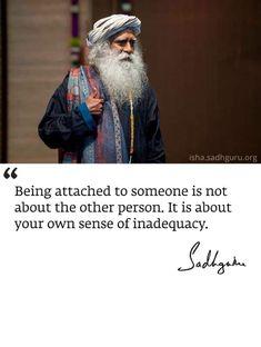 Sadhguru # let go Words Of Wisdom Quotes, True Quotes, Spiritual Quotes, Positive Quotes, Mystic Quotes, Buddha Quote, Zindagi Quotes, French Quotes, Beautiful Words