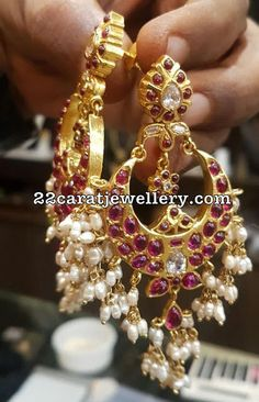Silver Metal Latest Chandbalis Jhumkas - Jewellery Designs
