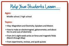 Middle school/High school Physics