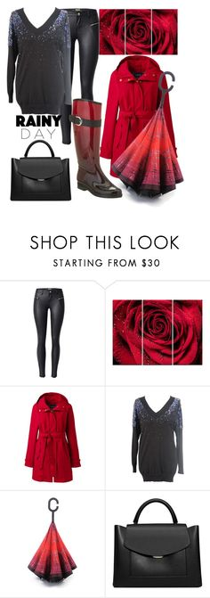 """""""Rainy day: ombre boots"""" by maddalenas ❤ liked on Polyvore featuring Design Art, Lands' End, French Connection, MANGO and Däv"""