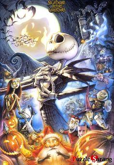 Disney/Tim Burton Nightmare Before Christmas Jack Skellington Disney Love, Disney Art, Art Tim Burton, Tim Burton Artwork, Animation, Elfen Fantasy, Fröhliches Halloween, Halloween Tattoo, Halloween Images