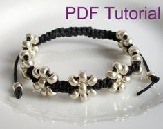 PDF Tutorial Beaded Square Knot Macrame por purplewyvernjewels