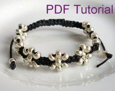 Tutoriel PDF tressé modèle de Bracelet par purplewyvernjewels