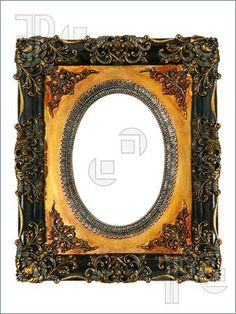 Antique frames | Picture of An old antique vintage picture frame isolated over white
