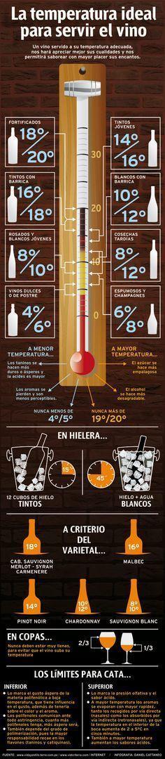 (PG) ¿Cuál es la temperatura ideal para servir el #vino?