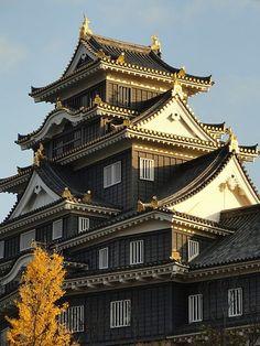 岡山県岡山市北区丸の内2丁目3−1 戦国時代に、備前から勢力を伸ばした宇喜多氏が本拠としたことで近世城郭の基礎が生まれた Cultural Architecture, Japanese Architecture, Japanese Buildings, Japanese Castle, Okayama, Castle Ruins, Japanese Culture, Beautiful Places, Places To Visit