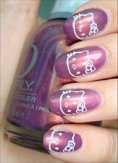 30 Cute Hello Kitty Manicure Ideas