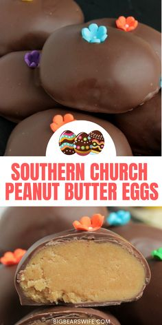 Love the Chocolate Peanut Butter Eggs that churches make around Easter time? These Southern Church Peanut Butter Eggs are just like those, they're perfect and taste amazing! via @bigbearswife Slow Cooker Recipes Dessert, Best Dessert Recipes, Sweets Recipes, Candy Recipes, Holiday Recipes, Peanut Butter Eggs, Peanut Butter Chocolate Bars, Cute Easter Desserts, Easy Desserts