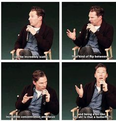 """Benedict Cumberbatch is so cute sometimes and just """"mow you over"""" sexy the rest of the time."""