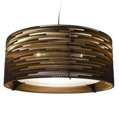 Drum24 Scraplight Natural Pendant Light