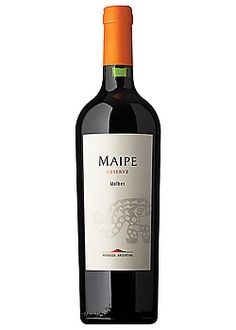 "Maipe Malbec Reserve, 2011    Elegant, Plum, Spices, Full-bodied  Wine & Spirits - Mendoza, Argentina- ""...a well made take on a modern style, with liqueur-like red and black fruit that speaks to the ripeness of the grapes. Underneath, there's a tannic base that carries the weight without a problem and acidity that lifts it all, leaving a sense of freshness."""
