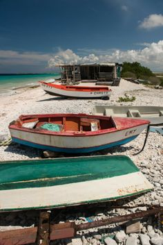 Fishing boats on #Bonaire