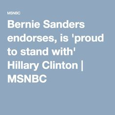 The Rachel Maddow Show 5 hrs ·  As Bernie Sanders and Hillary Clinton join forces, today was a striking reminder: Democratic politics is working in ways that Republicans should envy.