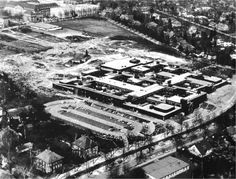 Aerial view, Free University, soon after completion, 1974. [Gabriel Feld and Peter Smithson, Free University, Berlin: Candilis, Josic, Woods, Schiedhelm. Exemplary Projects, 3 (London: Architectural Association, 1999), 16].