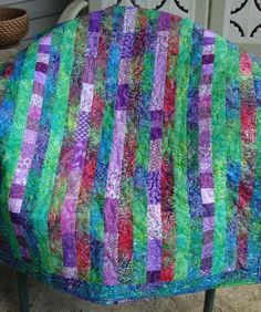 Purple & Green Batik Quilt - does this pattern look too busy? The fabrics can be changed.