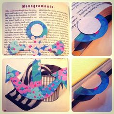 Homemade Lilly Pulitzer bookmarks (see other bookmark craft idea)